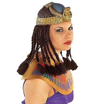 Tocado de Cleopatra con melena egipcia faraones serpientes peluca egipto antiguo accesorios disfraces