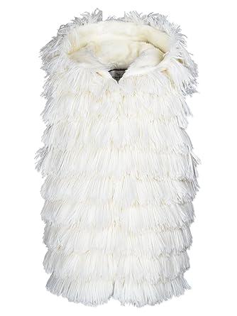 41b8fc3c7001 Amazon.com: Widgeon Girls' Hooded Shaggy Faux Fur Vest 3610: Clothing