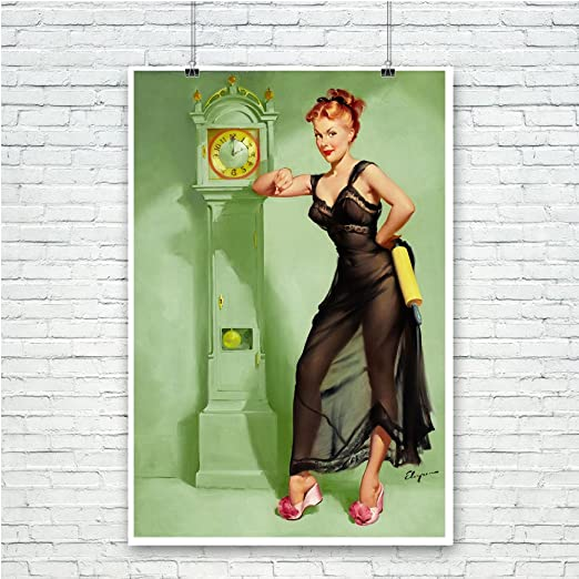 Hard To Handle Gil Elvgren Vintage Pinup Girl Poster