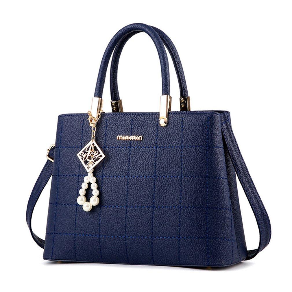 Fashion Women Leather Handbags Pearl Bow Crossbody Shoulder Messenger Bags Women's Hand Bag Woman Tote Bags Royal blue