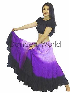 Dancers World 2pieza 25 Yard algodón Falda para Tribal Gitana Danza del Vientre Faldas ATS,