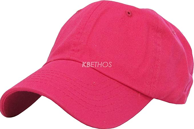5971d0db370 DS Solid Plain Washed Cotton Polo Style Baseball Ball Cap Hat 100% Cotton  NEW
