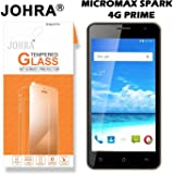 Johra® Real HD+ Tempered Glass For Micromax Spark 4G Prime - Micromax Spark 4G Prime Tempered Glass