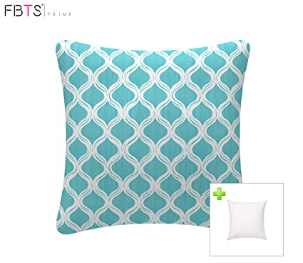 Amazon Com Outdoor Decorative Pillows With Insert Blue Patio