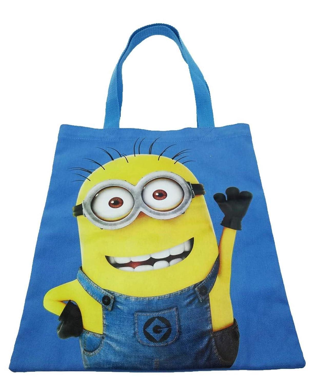 Minions Canvas/ Beach Tote Shopper Bag, Blue: Amazon.co.uk: Luggage