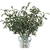 """Htmeing 28"""" Artificial Green Olive Branches Fake Plants Fruits for Home Office Shop Decoration (6pcs)"""