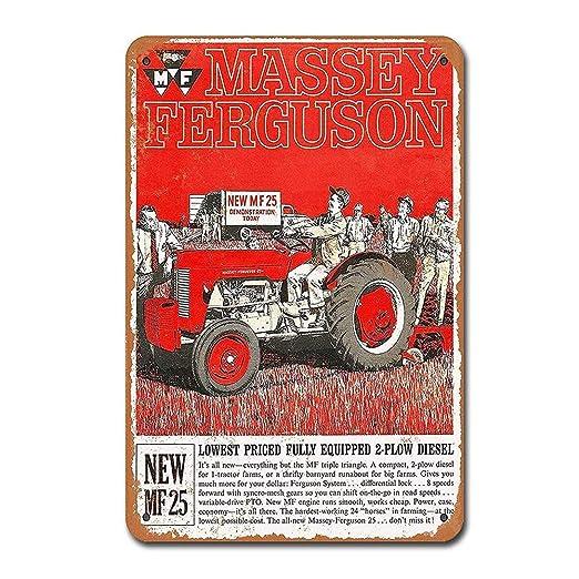 BORJOR Massey Ferguson MF 25 Tractors Farm -Cartel de Pared ...