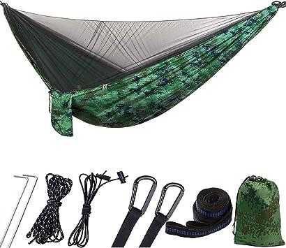 1449963//12043527 iFCOW Hamaca de camping con mosquitera al aire libre hamaca para dos adultos port/átil camouflage de viaje plegable senderismo