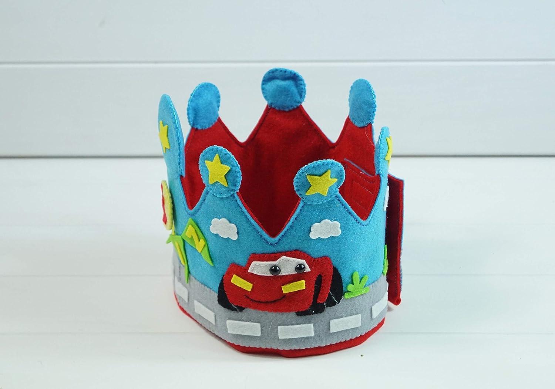Corona Cumpleaños Fieltro Rayo Mcqueen: Amazon.es: Handmade
