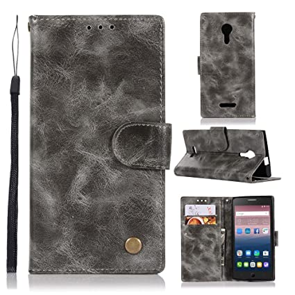 check out 2e84f 8aa02 Amazon.com: Luckyandery Alcatel OneTouch Flash 2 wallet case,Alcatel ...