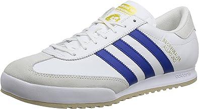error Encarnar manguera  adidas Men's Beckenbauer Sneakers White Size: 11 UK: Amazon.co.uk: Shoes &  Bags