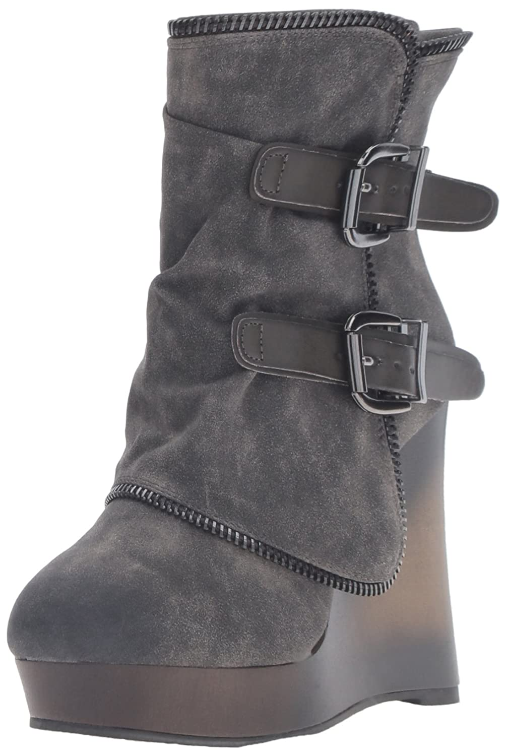 Not Rated Women's Gemini Ankle Bootie B01COQ170O 8.5 B(M) US|Grey