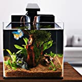 ISWEES Betta Fish Tank Complete Aquarium Kit, All Acrylic 4-Gallon, With Betta Fish Accessories - LED Lighting, Air Pump, Sponge Filter and Heater, Decorative Fish Aquarium Tank for Home and Office