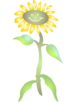 Diseno De Girasol Tamano Grande Reutilizable Flores Infantil Bebe