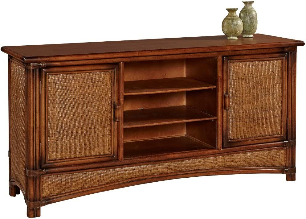 Pacifica Living Room TV Media Cabinet Model 4305 by South Sea Rattan