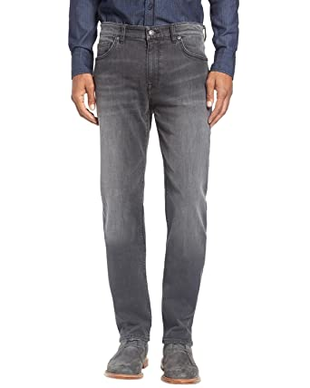 4d95061e8 Hugo Boss Men's Green Label Maine Regular Fit Stretch Jeans-G-38Wx32L Gray