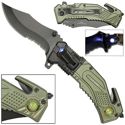 Amazon.com: US Army Knife con luz LED Attached & última ...