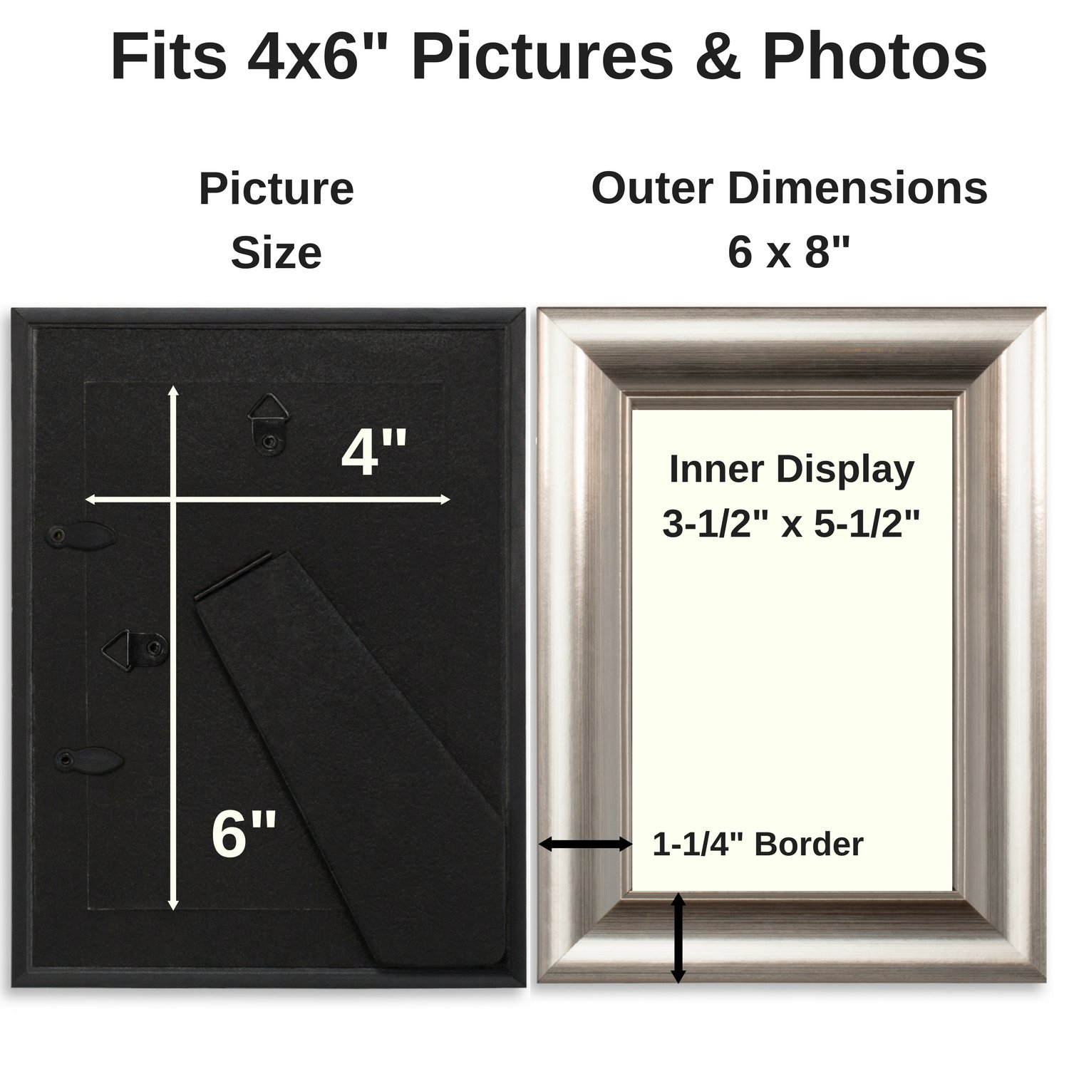 Icona Bay 4 x 6 Inch Picture Frames (4x6, 6 Pack) Bulk Set ...
