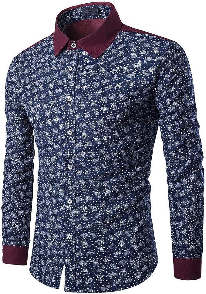 feiXIANG Chemise - Camisa Formal - para Hombre Azul Marino XL ...