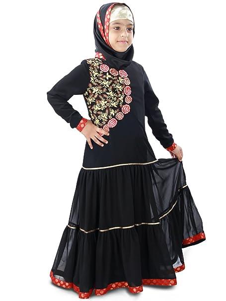 MyBatua Aamilah Fiesta Eid Desgaste del bebé Vestido de Abaya AY-407-K (