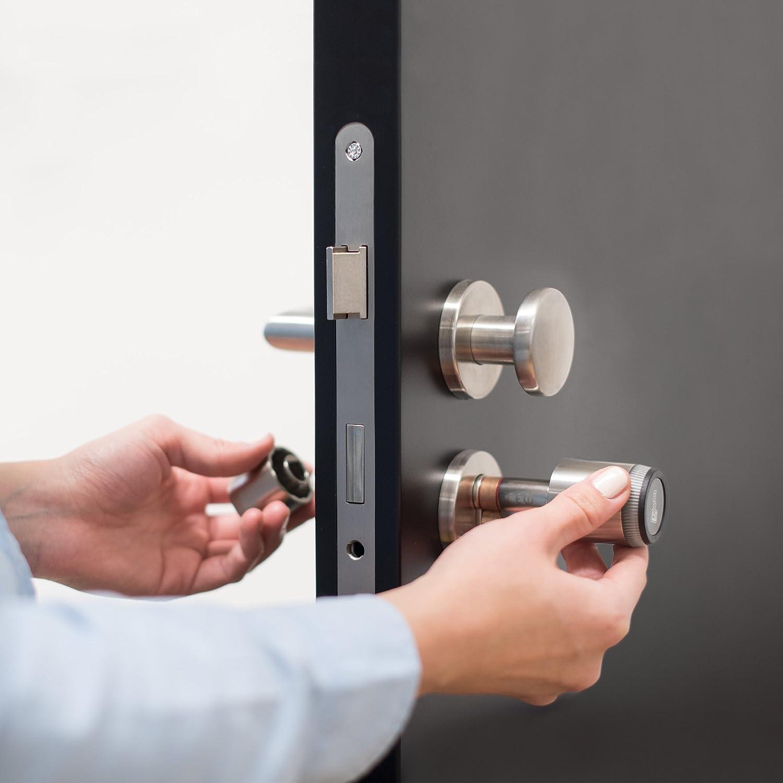 fabricado en Alemania /Cerradura electr/ónica para puerta Smartphone aplicaci/ón Tecnolog/ía de /& NFC Bluetooth tapkey Smart Lock:/
