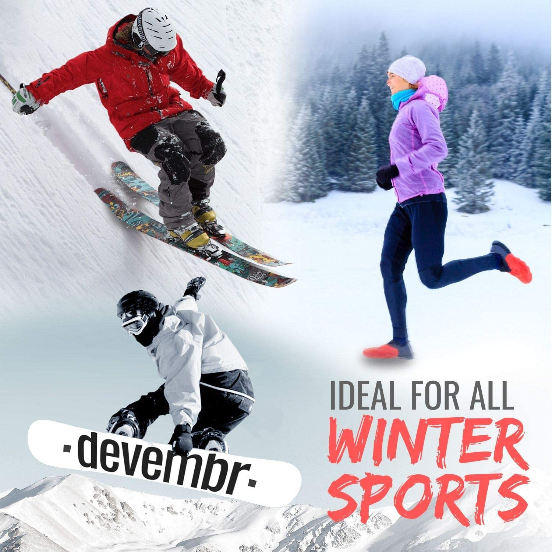 Pantaloni Termici per Sport Invernali Corsa Sci Ciclismo Alpinismo S//M//L//XL//XXL Funzionale Intimo Termico Maglia Termica devembr Biancheria Intima Termica Donna