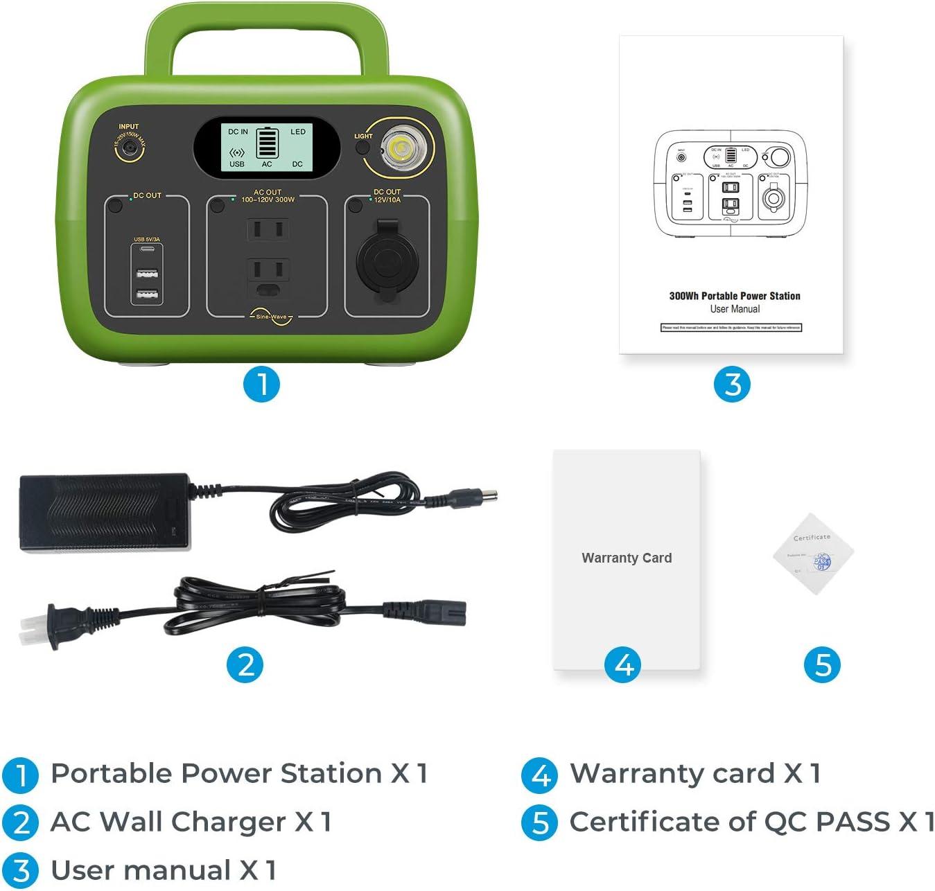 RV Parts & Accessories BLUETTI Portable Power Station AC30S,300Wh ...