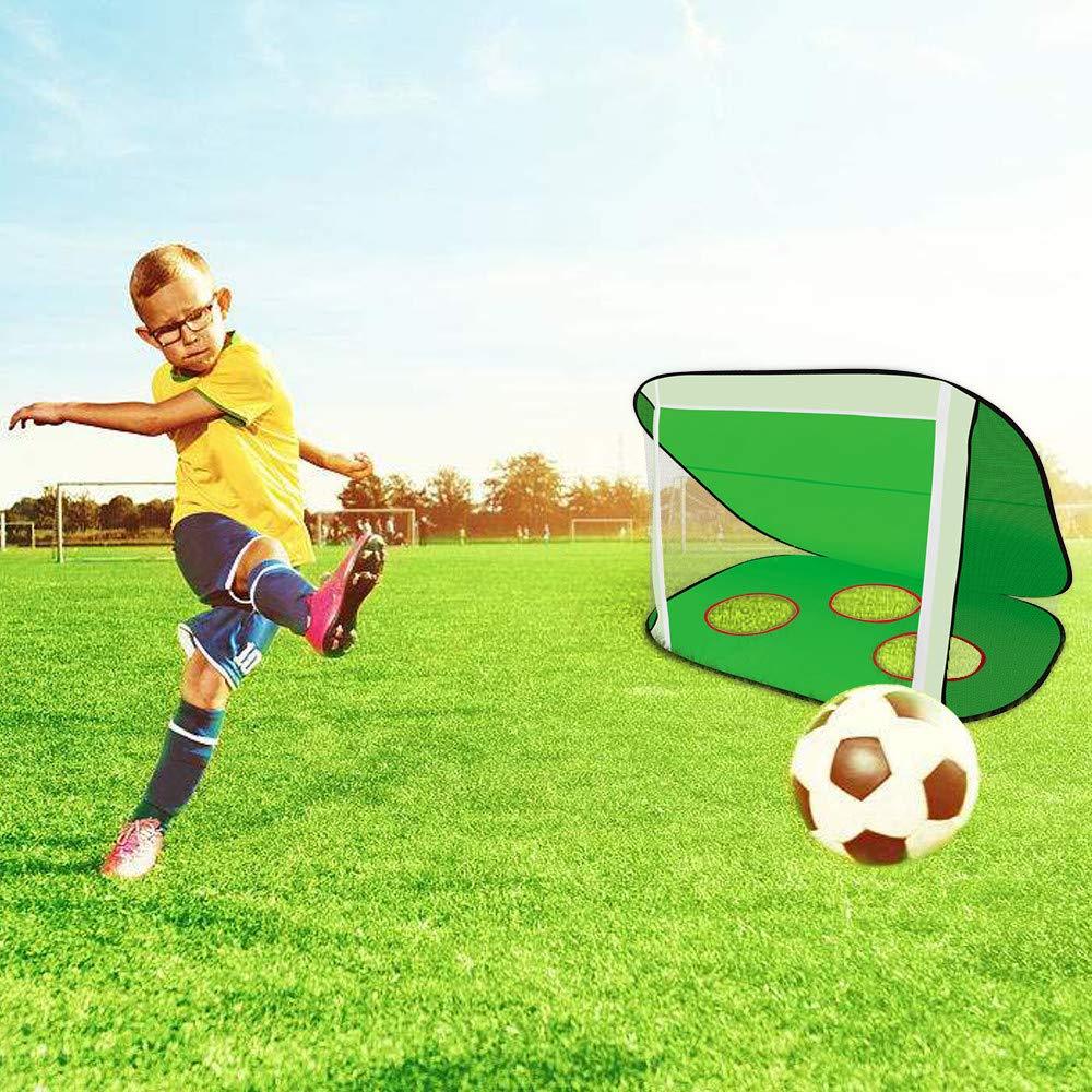 Amazon.com  Blueseao Kids Toys Soccer Goal Youth Football Target Soccer  Nets Portable Carry Bag Indoor   Outdoor Sports Games Children Festival  Birthday ... 7b44e6277357