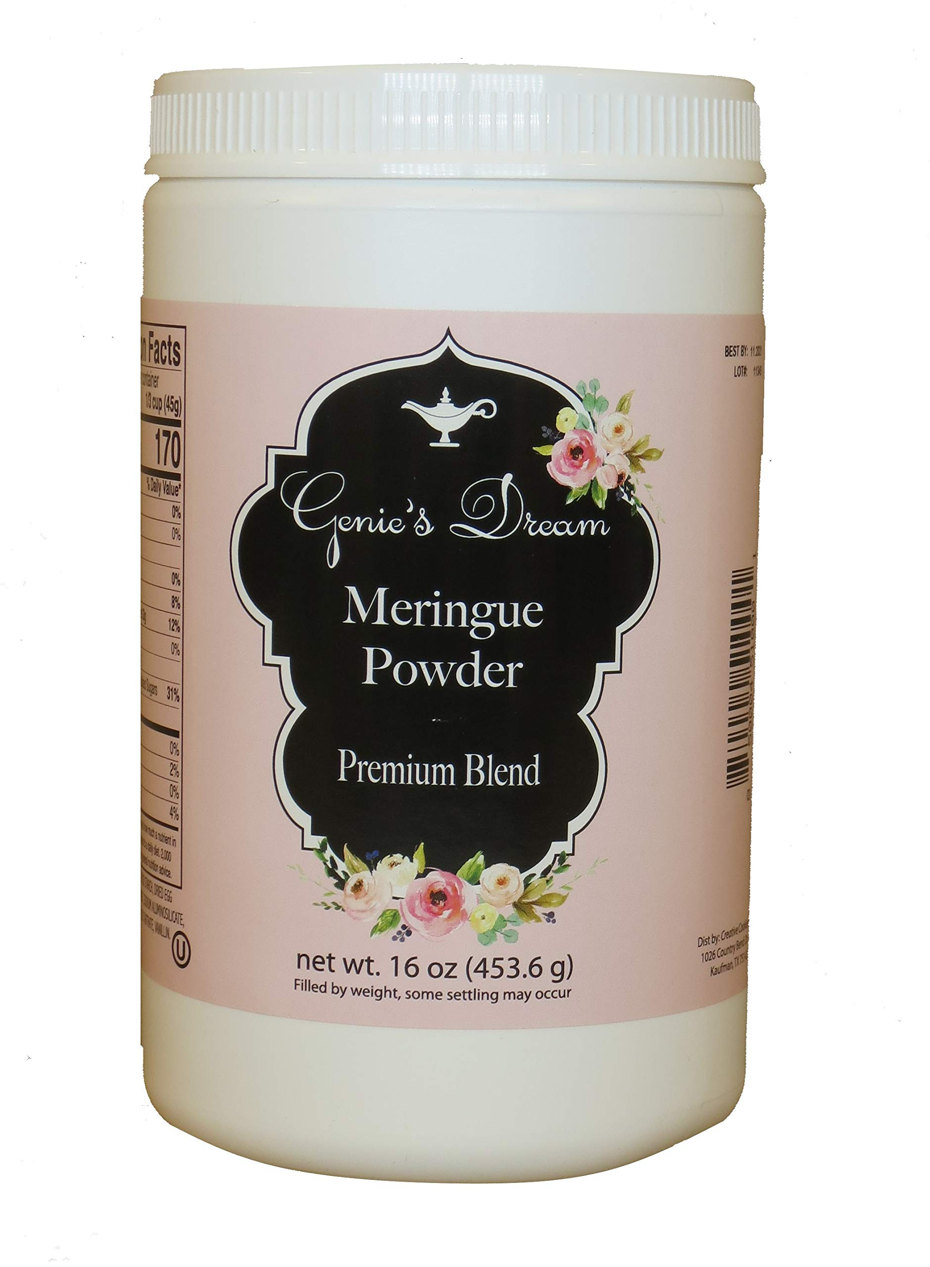 Genie's Dream Premium Meringue Powder, 16 oz (1 lb) jar