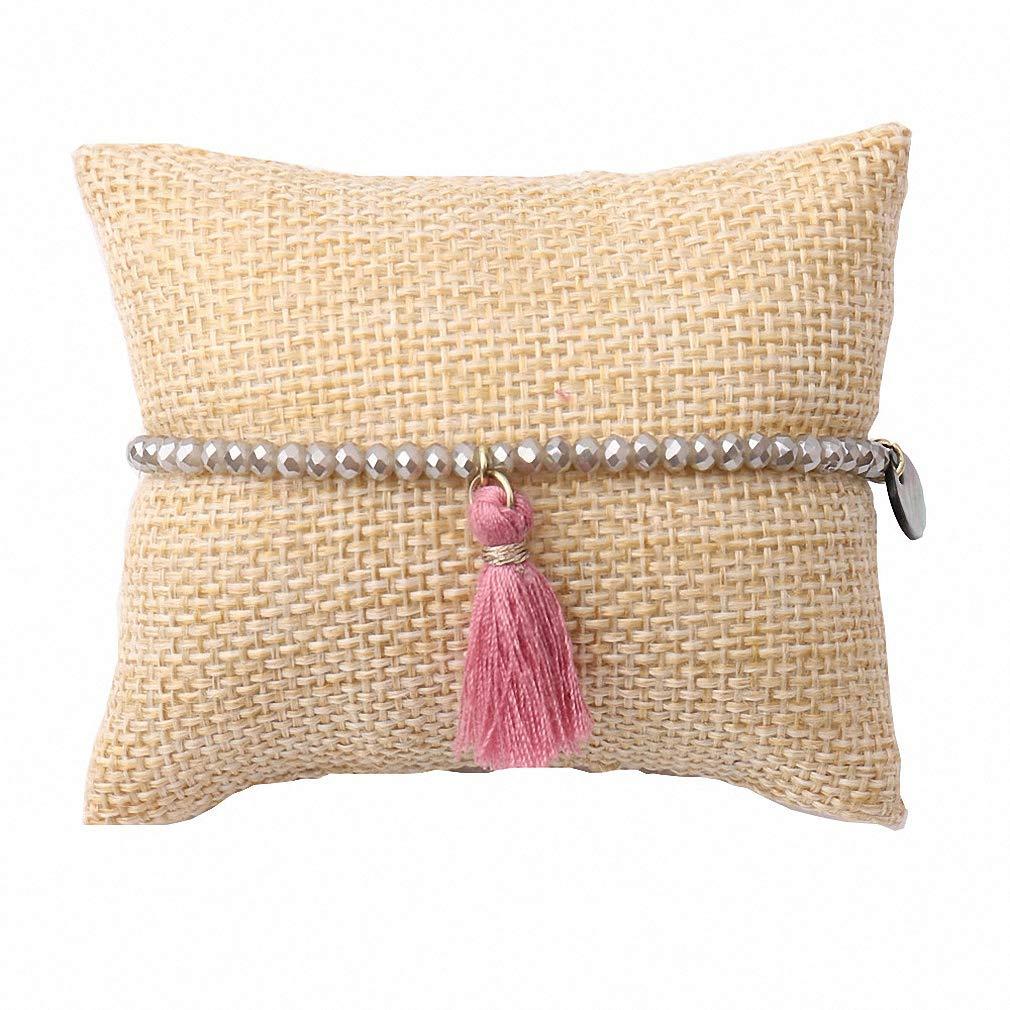 Giwotu Womens Bracelets Tassel Friendship Girls Bracelets Crystal Beads Bohemian Summer Charming Jewelry Daily Lovely