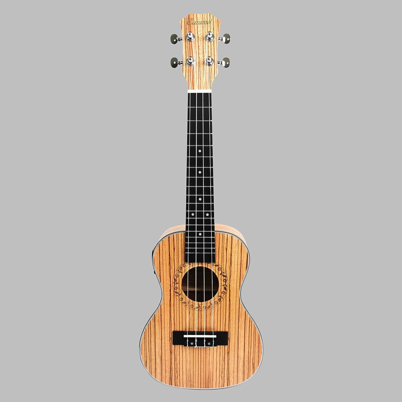 caramel cc100 zebra wood concert acoustic electric