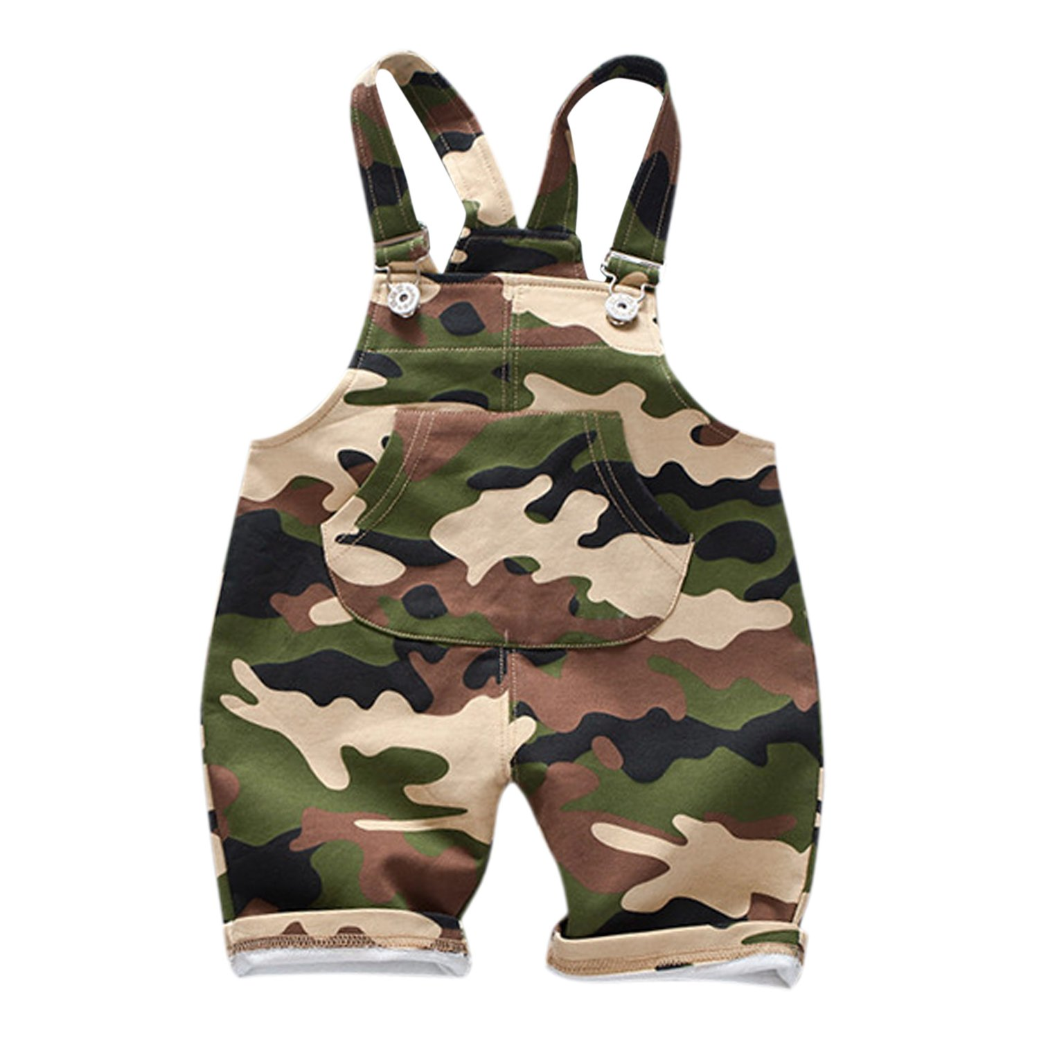 Evelin LEE Baby Boys Cute Camo Bib Pants Sleeveless Romper Jumpsuits Overalls 05LFA1112-CAZL