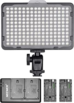 Dimmable LED Video Light 176 LED/'s 5600K Panel Photography USB Lighting