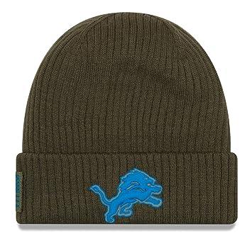 wholesale dealer b6a2b b28b1 New Era NFL Detroit Lions 2018 Salute to Service Sideline Knit