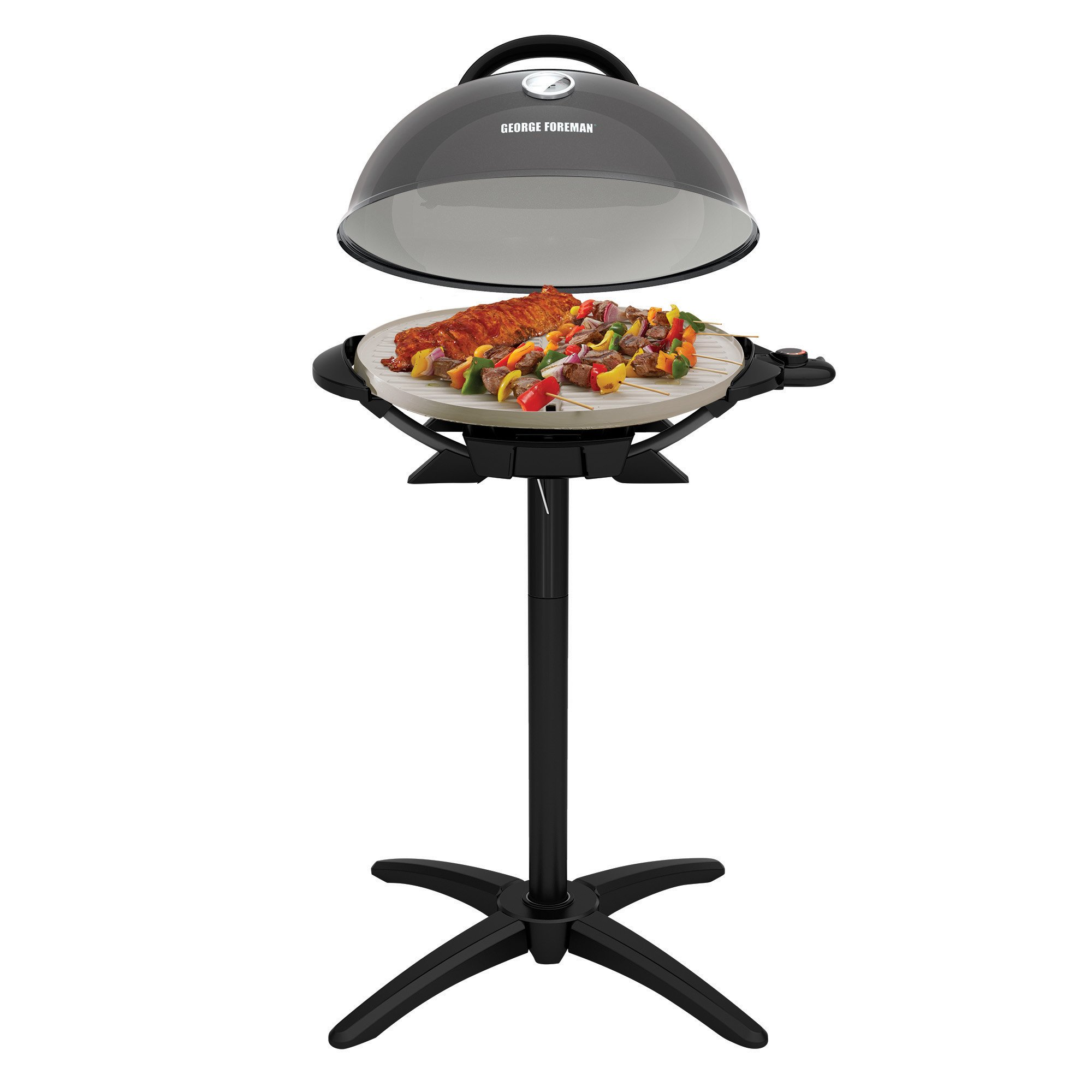 George Foreman GFO3320GM Indoor/Outdoor Gun Metal Electric Grill by George Foreman (Image #3)