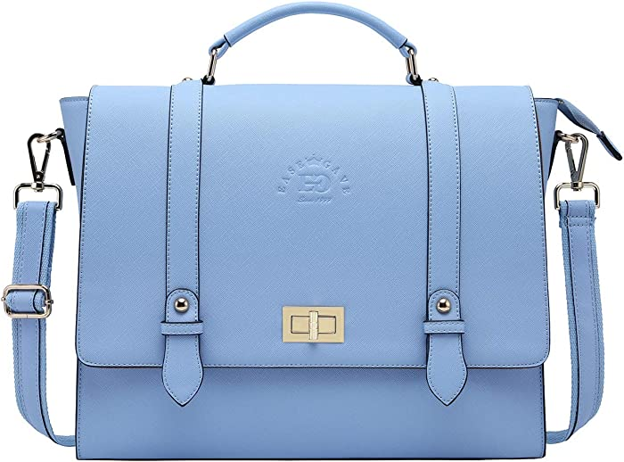 15.6-Inch Laptop-Briefcase-for-Women,Work-Bags Unique Laptop Messenger Bag Satchel-Bag Laptop-Computer Bag with Professional Padded Compartment for Tablet Notebook Ultrabook-Baby Blue Jay