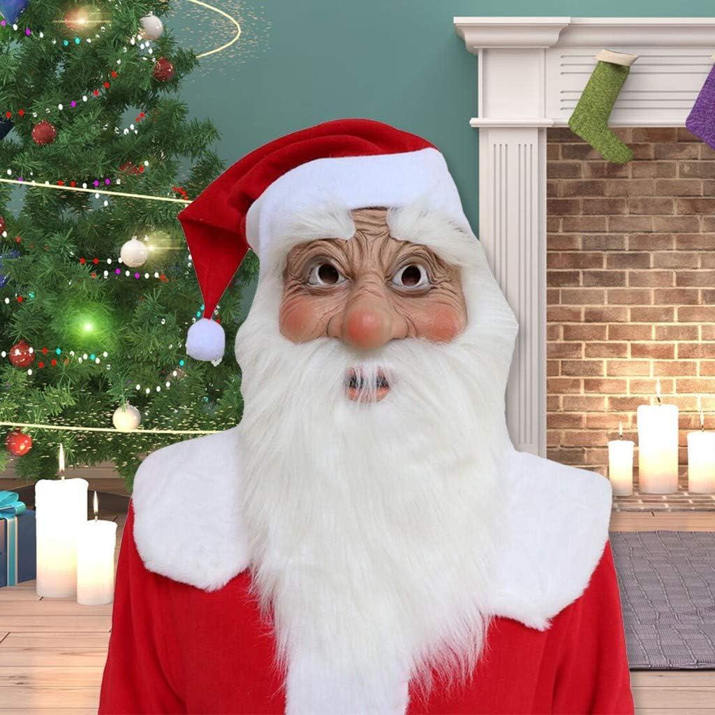 Adult Plush Santa Clause Big Head Fancy Dress Large Mask Hat Christmas Xmas