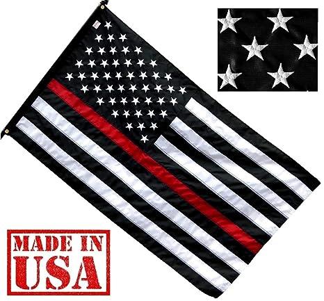 120c00edc551 Amazon.com   US Flag Factory 3 x5  Thin RED Line American Flag ...