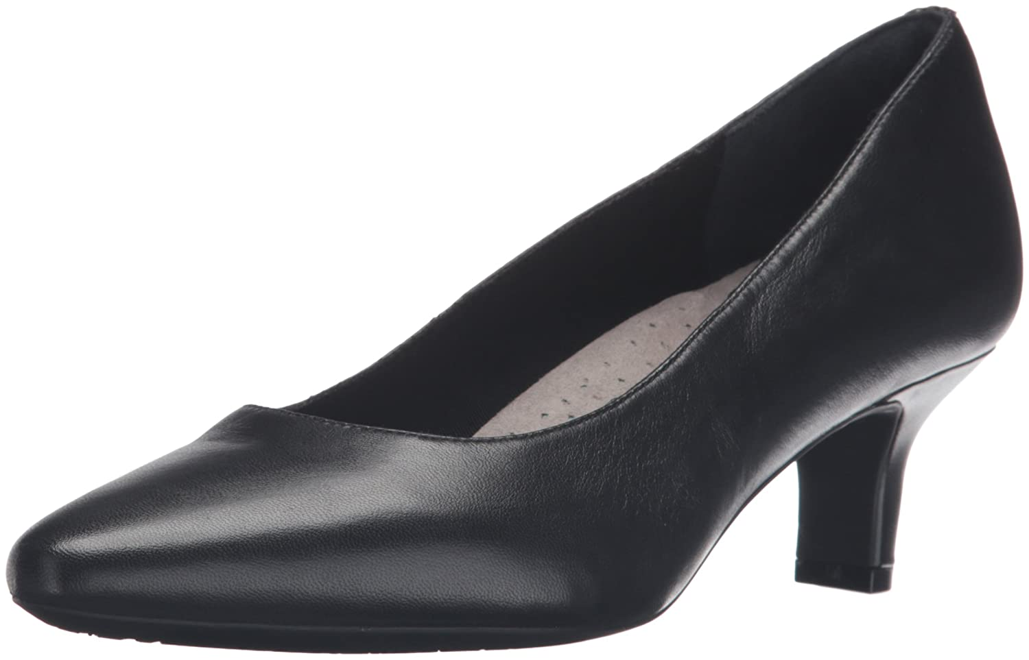 Rockport Women's Kimly Kirsie Dress Pump B01D3NN930 9 W US|Black Smooth