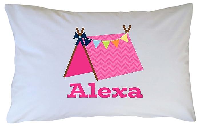 Pink Glamping Pillow Case
