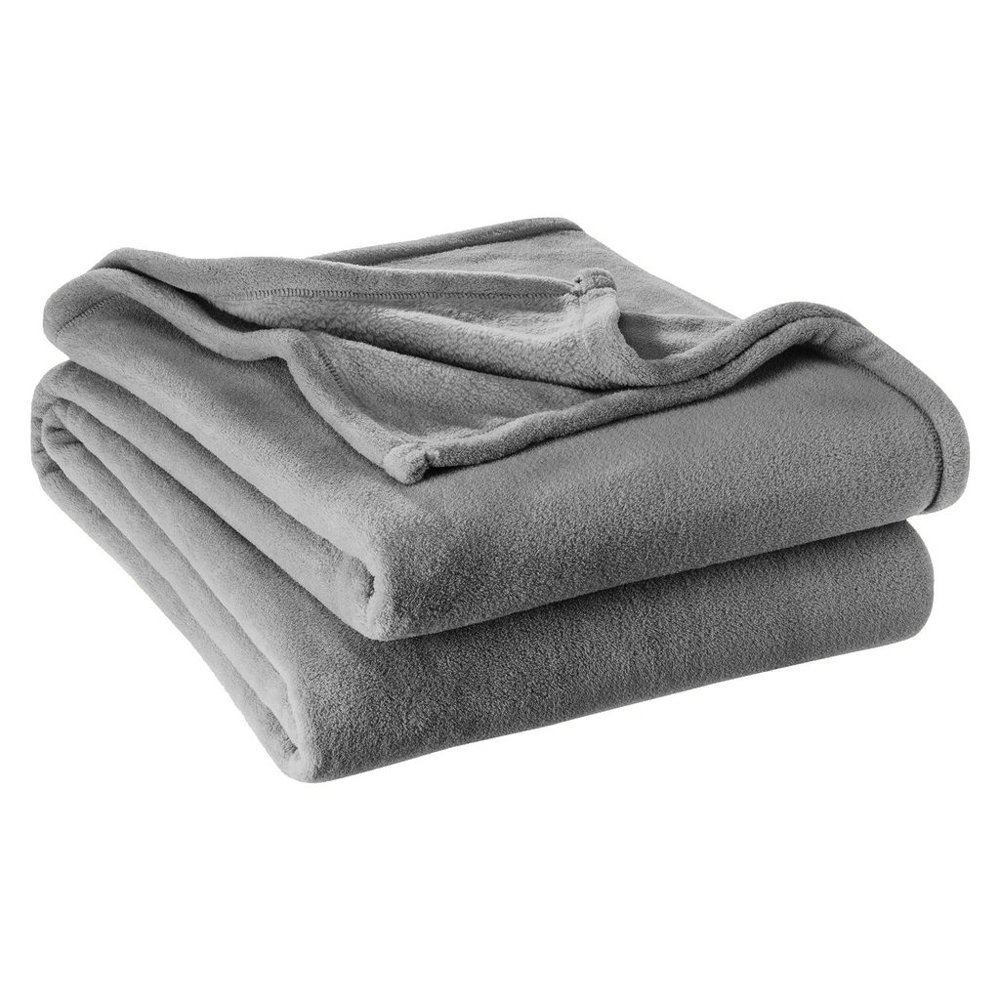 Ivy Union Ultra Soft Microplush Velvet Blanket - Luxurious Fuzzy Fleece Fur- All Season Premium Bed Blanket, Twin Extra Long (Twin XL, Grey)