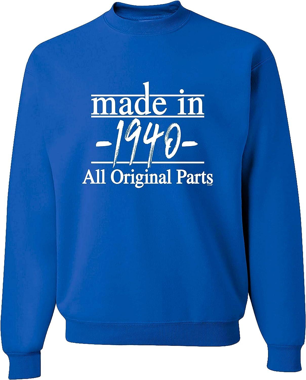 Birthday Gifts For All 80th 1940 All American Premium Crewneck Sweatshirt
