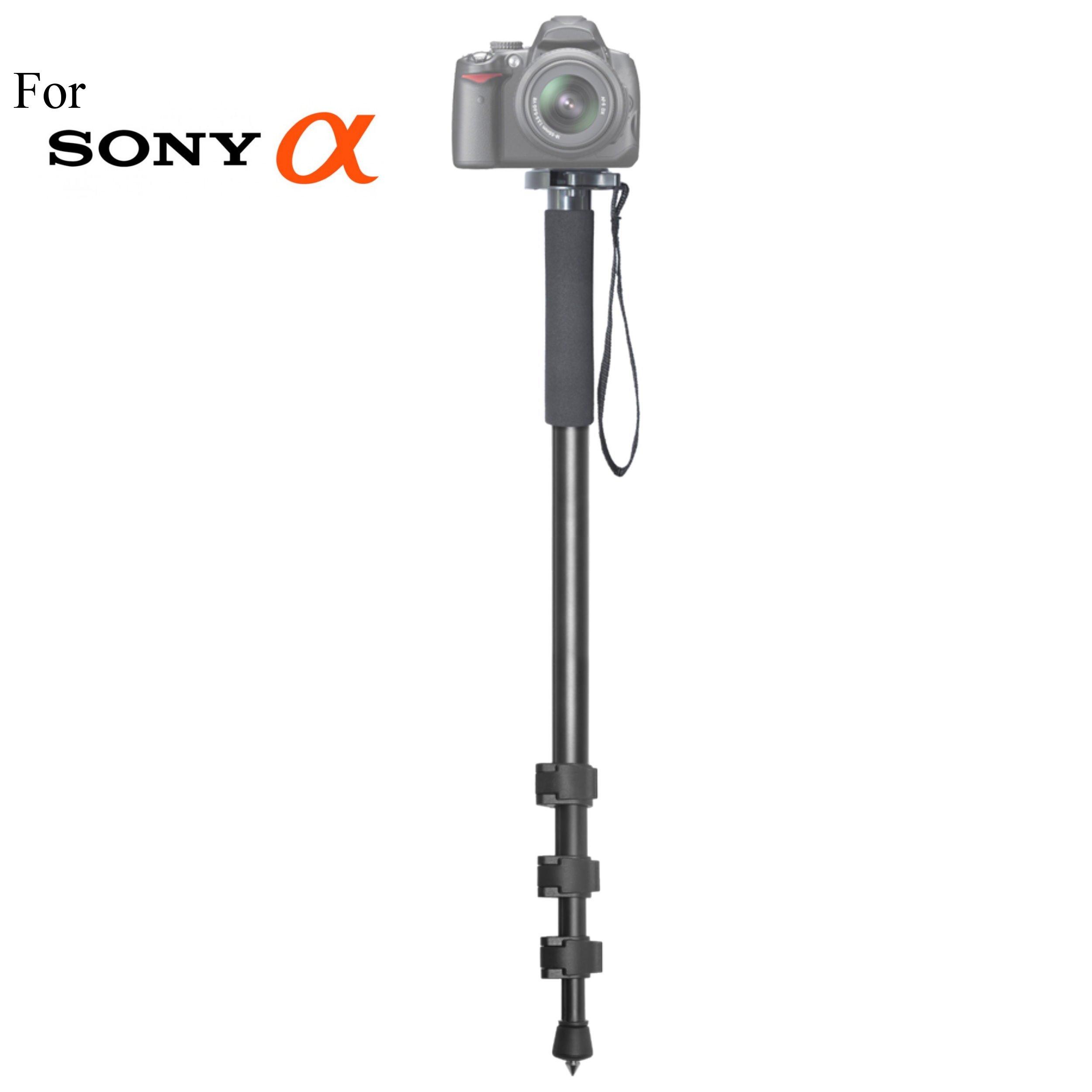 Versatile 72'' Monopod Camera Stick + Quick Release for Sony Alpha DSLR-A100, DSLR-A200, DSLR-A230, DSLR-A290, DSLR-A300, DSLR-A330, DSLR-A350, DSLR-A380 Cameras: Collapsible Mono pod, Mono-pod