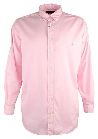 1bde90c2b Polo Ralph Lauren Men s Classic Fit Garment Dyed Chino Shirt (Pink ...