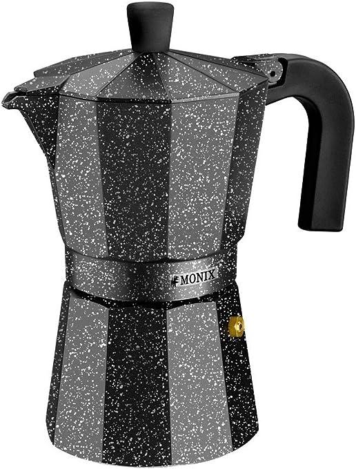 Monix Vitro Rock-Cafetera Italiana de Aluminio, 9 Tazas, 11 cm ...