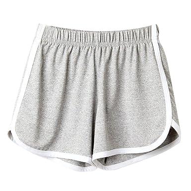 c81819c9daa0db ZARU Damen Sport Shorts, Mode Frauen Sommer Strand Shorts Elastische  Training Yoga Fitness Kurze Hosen