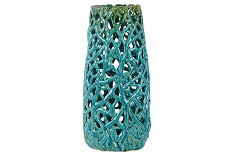 Amazon Urban Trends Ceramic Cylindrical Vase With Uneven Lip
