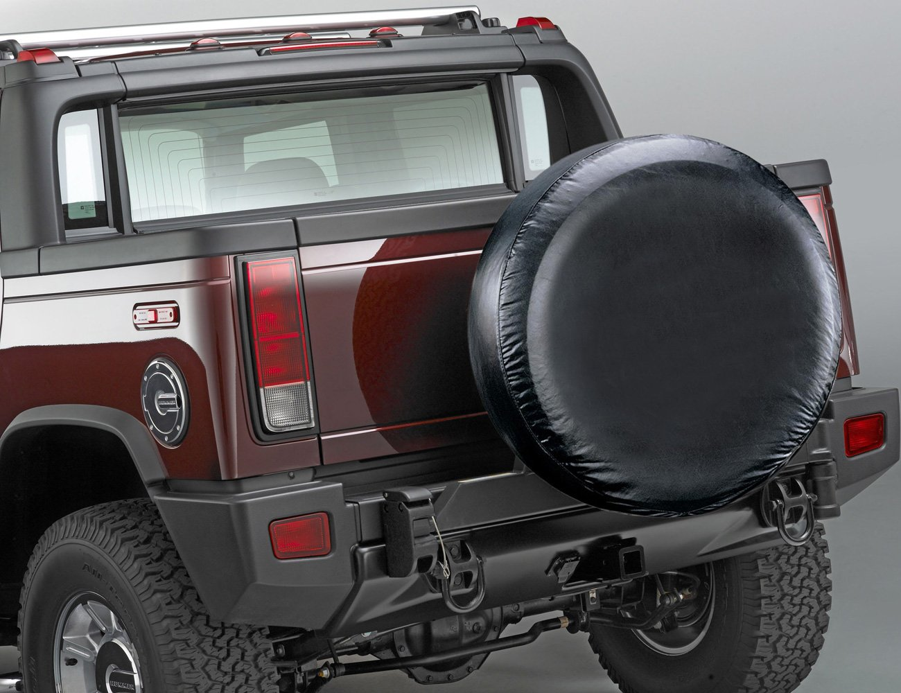 Leader Accessories 33''-35'' Spare Tire Cover For Jeep, Trailer, RV, SUV, Truck Wheel Fits Entire Wheel 33''-35'', Black Soft Vinyl by Leader Accessories (Image #2)