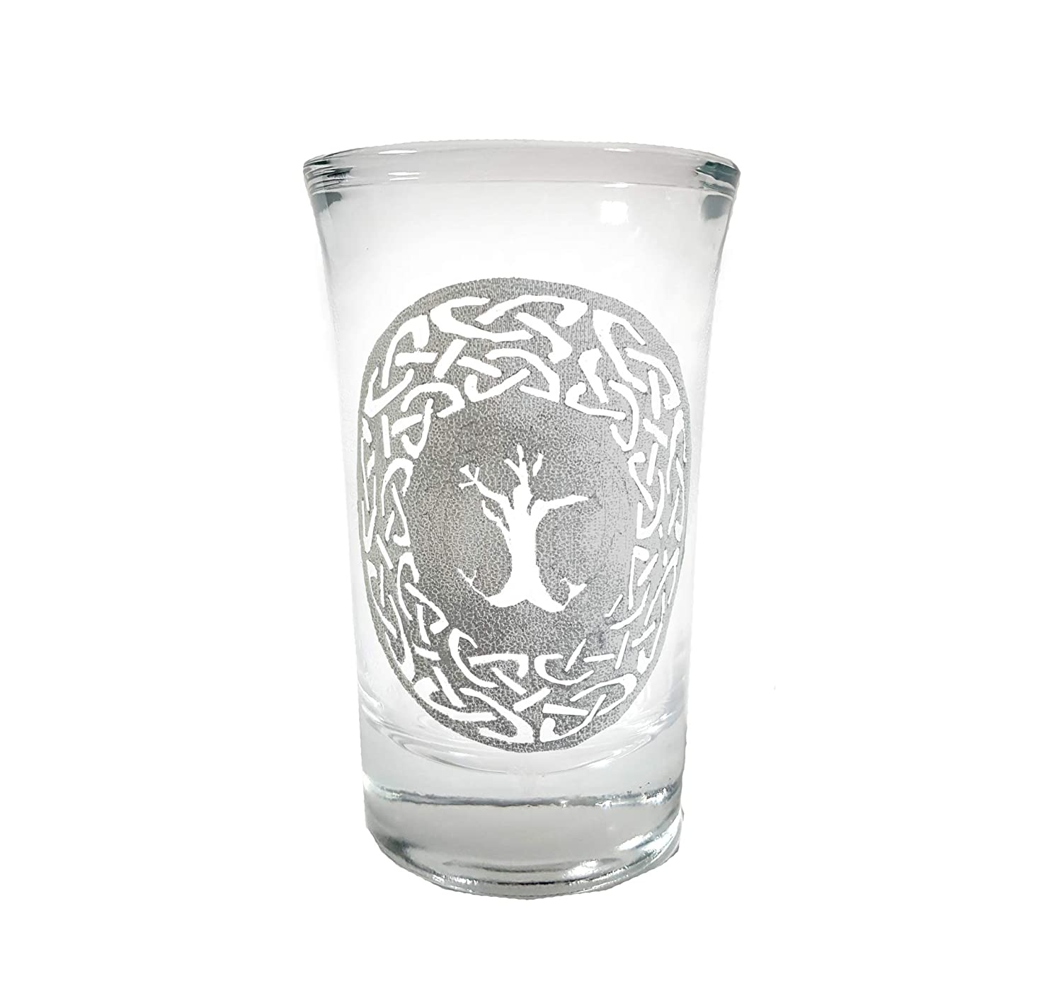 Celtic Tree of Life Shot Glass Free Personalized Engraving