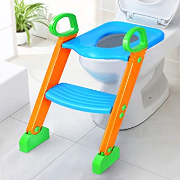 Strange Potty Training Seat With Step Stool For Kids Gpct Toddler Toilet Seat For Boys Girls Baby W Ladder Sturdy 3 In 1 Comfortable Safe Built In Theyellowbook Wood Chair Design Ideas Theyellowbookinfo